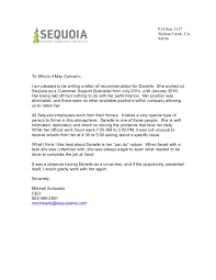 Letter Of Recommendation For Laid Off Employee Sequoialetters