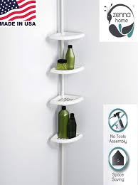 bathroom space savers bathtub storage: shower corner caddy bathroom shelf space saver storage organizer bath wall rack