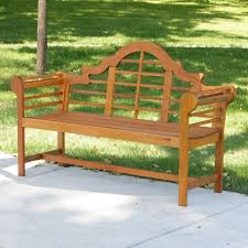 achla designs lutyens eucalyptus wood garden bench 4 5 ft com