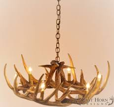 gorgeous whitetail deer 9 antler chandelier with chain and light fixtures for interior design