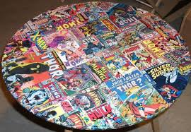 diy comic book desk. This Coffee Table Is Adorned With Comic Book Covers. Diy Desk