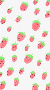 strawberry wallpaper lovely cartoon wallpaper png and psd