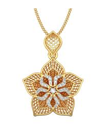 bluestone 18kt yellow gold diamond daffodil lattice pendant bluestone 18kt yellow gold diamond daffodil lattice pendant in india on snapdeal