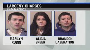Two men and a woman facing several charges including larceny in ...