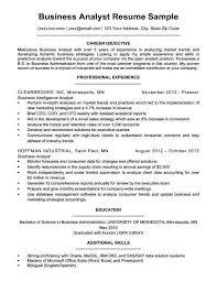 Business Analyst Resume Inspiration Senior Business Analyst Resume Best Of Sample Business Analyst