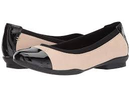 clarks neenah garden blush pink black patent leather women s flat shoes