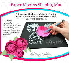 Paper Flower Cutting Tools Paper Blooms Shaping Mat Rolling Tool Kit Catching Colorflies