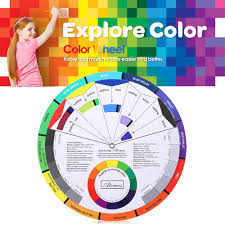 Black Color Mixing Chart Double Sides Tattoo Pigment Color Wheel Chart Color Mix Guide Supplies For Permanent Eyebrow Lip Round Tattoo Ink Color Wheel