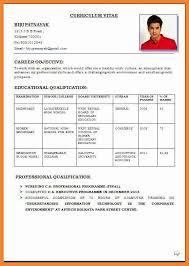 Professional Resume Format Pdf Bio Resume Samples