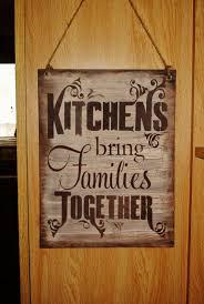 Decorative Wooden Kitchen Signs