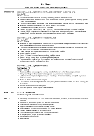 Talent Acquisition Manager Resume Example Senior Talent Acquisition Resume Samples Velvet Jobs 8