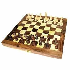 Wooden Board Games Uk CLASSIC WOODEN CHESS SET Folding Travel Board Game GIFT Retro Hand 53