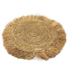 mat fringe raffia brown bath mat restroom mat bali style horse macl ann interior cushion rakuten global market