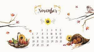November Turkey Calendar Desktop ...