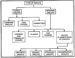 Formal Organisation Chart Types Of Groups Found In An Organisation
