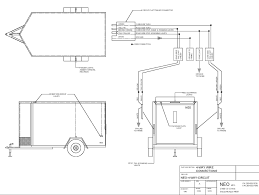 Trailer wiring diagram for 4 way 5 6 and 7 circuits with cargo on simple flat