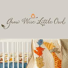 all decals nursery wall decals grow wise little owl wall decal