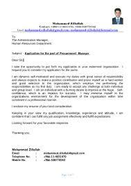 Resume Procurement Manager Therpgmovie