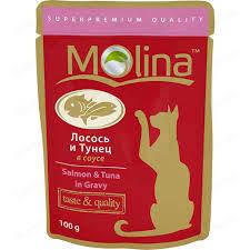 <b>Паучи Molina Taste &</b> Quality Salmon Tuna in Gravy лосось и ...