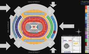 madison square garden seat map msg official site msg concert seating chart with