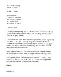 Thank You Letter After Job Interview Uk Cover Letter