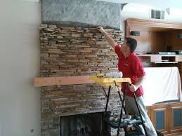 thin natural stone veneer fireplace