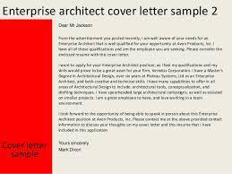 architect cover letter samples enterprise architect cover letter