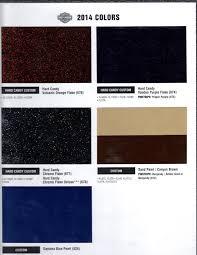2012 Harley Davidson Color Chart 2014 Colors Harley Davidson Forums