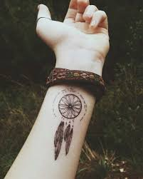 Simple Dream Catcher Tattoos Interesting 32 Dreamcatcher Tattoos For A Good Night Sleep