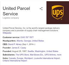 ups customer service ups contact numbers uk tracking delivery billing helpline 0843 837 5437