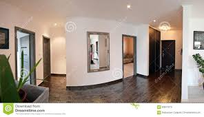 Wood Work Designs For Hall Hallway Of Modern Home Stock Image Image Of Wooden Hidden