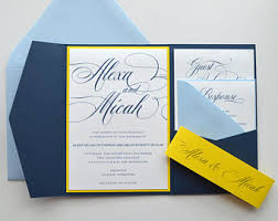 wedding invitations blue and yellow etsy Wedding Invitations Navy And Yellow navy wedding invitations, navy blue wedding invitations, blue and yellow wedding invitations, yellow navy blue and yellow wedding invitations