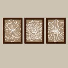 sensational brown wall art small home decoration ideas wall art canvas or prints flower artwork bathroom pictures decor bedroom set of 3 on brown wall art canvas with sensational brown wall art small home decoration ideas wall art