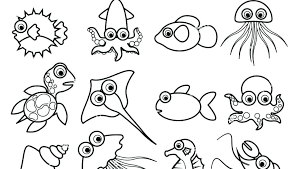 Coloring Pages Of Ocean Animals Trustbanksurinamecom