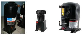 types of refrigeration compressors. some larger-size compressors are semi-hermetic, where the heads of can be removed to gain access pistons and valves for servicing. types refrigeration
