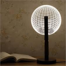 3d round ball shape led creative desk light night lamp acrylic dimmable art table lamp xmas