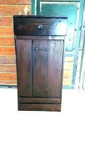tilt out trash bin double can cabinet garbage a wooden o ikea diy plans