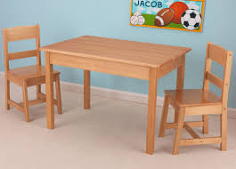 Kids 3 Piece Wood Table & Chair Set