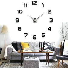 clock wall decals modern large simple wall decal clock clock wall art decals