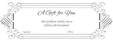 Custom Gift Certificate Templates Free Homemade Gift Certificates Inspirational Card Fresh Clever