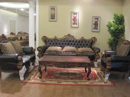 ... Living Room, Living Room Furniture Mesmerizing Retro Sofa And Vintage  Wood Table Above Red Carpets ...
