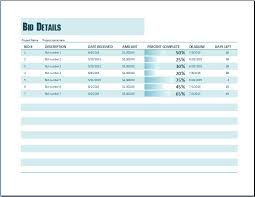 Ms Excel Project Bid Tracking Template Word Excel Templates