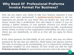 Performa Format Proforma Invoice Format For Business