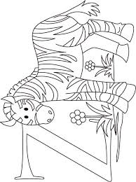 Small Picture Z for zebra coloring page for kids Download Free Z for zebra