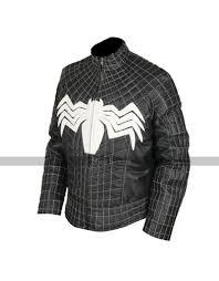 spider man black venom leather jacket
