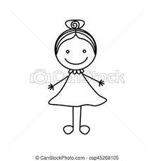 かわいい シルエット 手 毛 集められた 女の子 図画