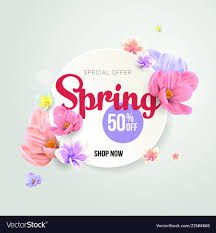 Spring Sale Template Background