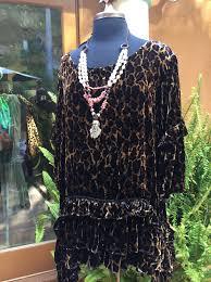 Marrika Nakk Designs Mariposa Tunic In Leopard Velvet Marrikanakk