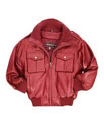 all gone red leather moto er jacket toddler