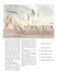 Christian Newsletter Templates Template Newsletter Templates